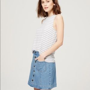 LOFT Jean Skirt Size 00